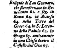 La reliquia, la processione e l'edificazione della Cappella dedicata a San Gennaro all'interno della Certosa di Padula.