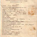 Rapporto informativo sul Gerarca Brando Vacca Domenico